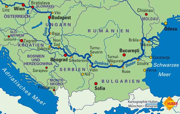 Products Danube Map on